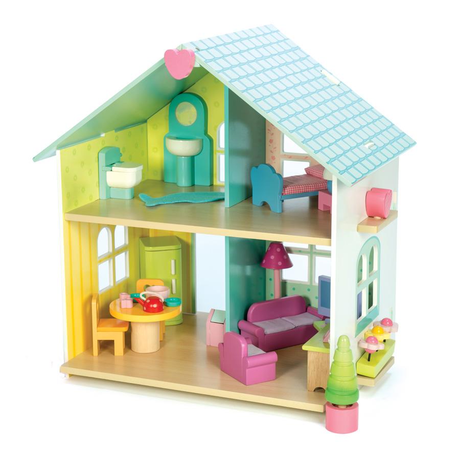 le toy van puppenhaus evergreen house mit m beln online. Black Bedroom Furniture Sets. Home Design Ideas