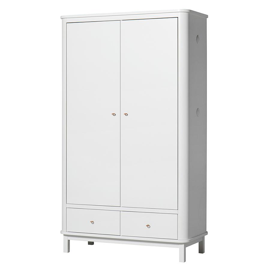 oliver furniture wood kleiderschrank 2 t rig wei online kaufen emil paula kids. Black Bedroom Furniture Sets. Home Design Ideas
