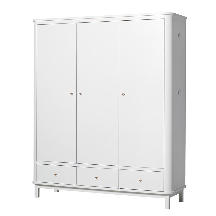 Oliver Furniture Wood Kleiderschrank 3 Turig Weiss Online Kaufen