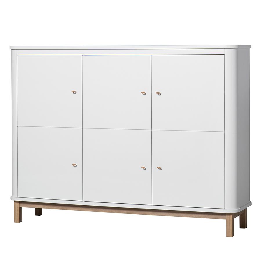 Oliver Furniture Wood Multi Schrank 3 Turig Weiss Eiche