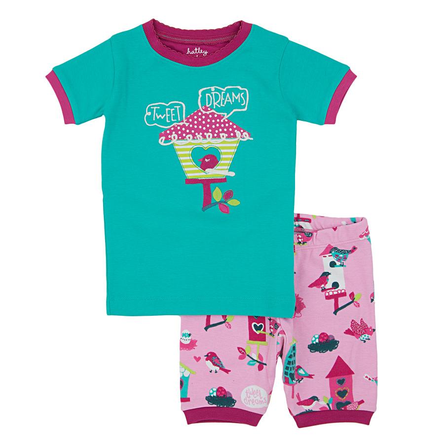 49609f8607d1ef Hatley Kinder Schlafanzug-Set kurz Bird Houses Tweet Dreams online ...
