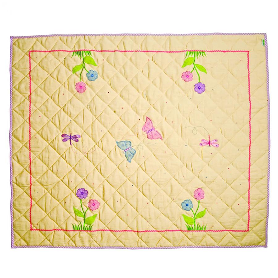win green spieldecke quilt butterfly cottage klein online. Black Bedroom Furniture Sets. Home Design Ideas