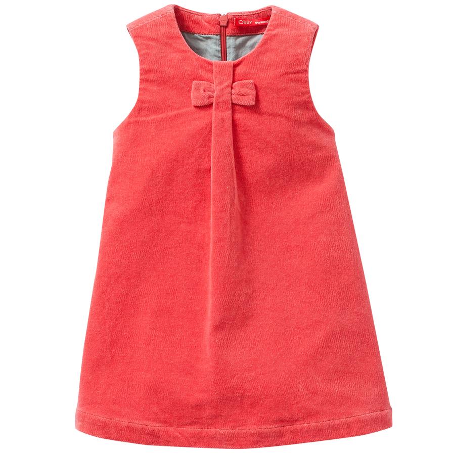 12695bf9b47a5a Oilily Kleid Dafala Cord Plain Coral Orange online kaufen   Emil ...