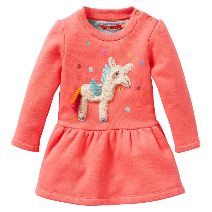 e5969cff409e6a Oilily Pullover Kleid Hupz Plain Coral Orange online kaufen   Emil ...