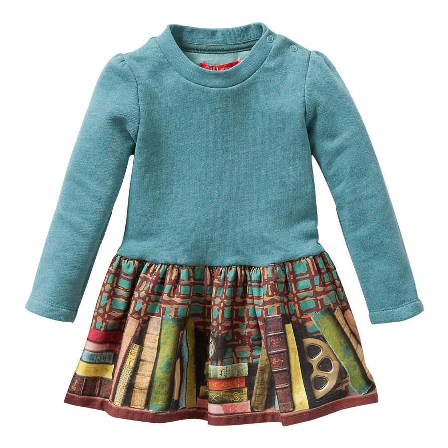 81870063a7ca37 Oilily Pullover Kleid Hupz Plain Green With Rock Fox And Books Green ...