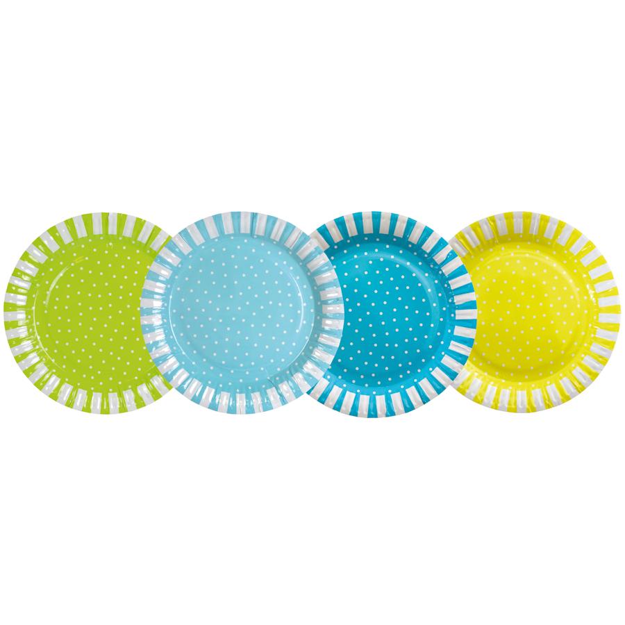 Jabadabado pappteller dots blau online kaufen emil for Pappteller blau