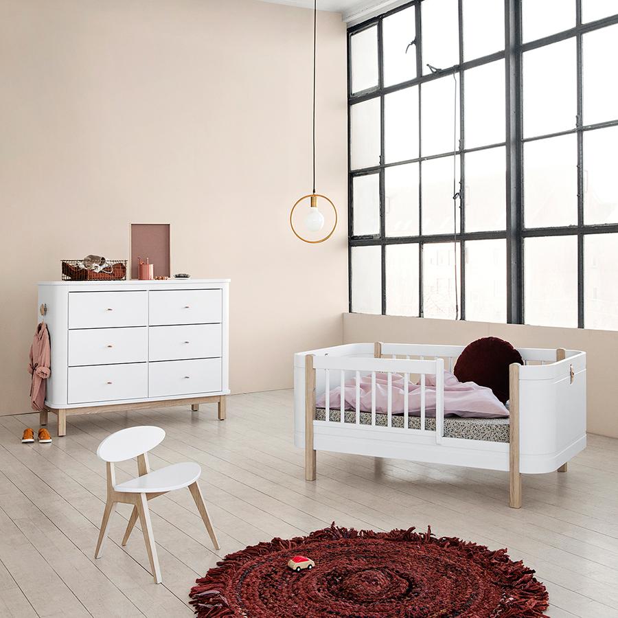 oliver furniture wood kommode 6 schubladen wei eiche. Black Bedroom Furniture Sets. Home Design Ideas