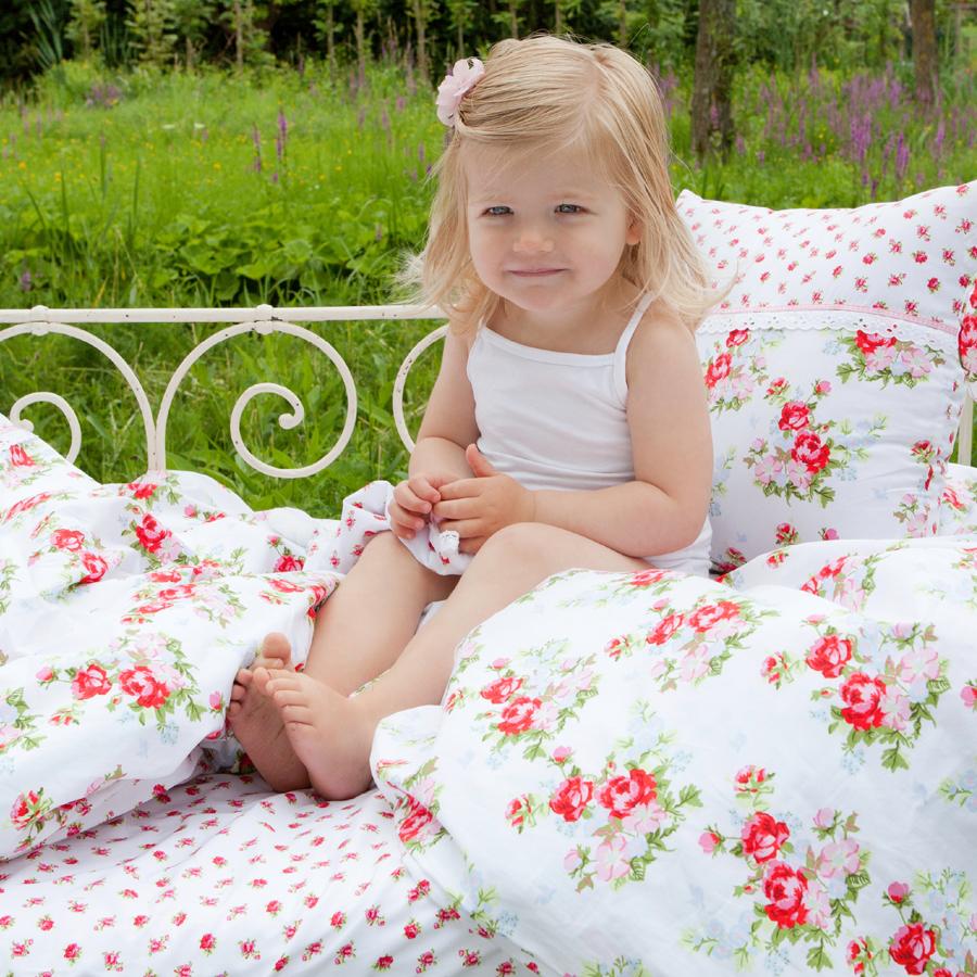 little dutch bettw sche rosen wei online kaufen emil paula kids. Black Bedroom Furniture Sets. Home Design Ideas