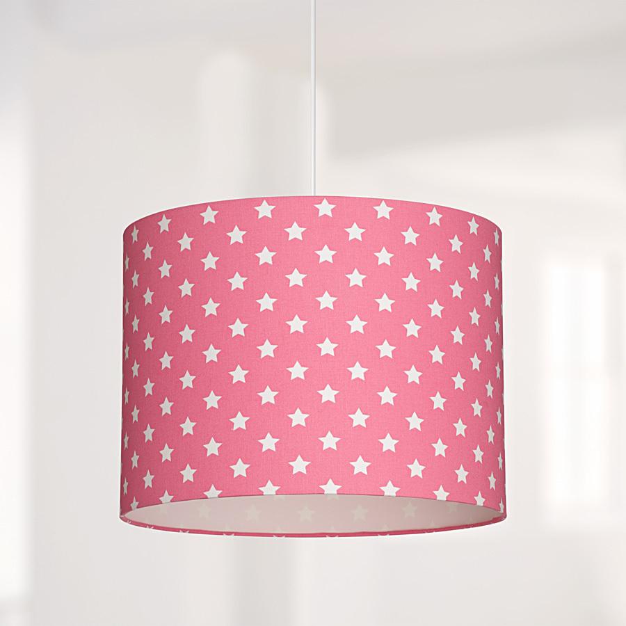 lampenschirm sterne pink online kaufen emil paula kids. Black Bedroom Furniture Sets. Home Design Ideas