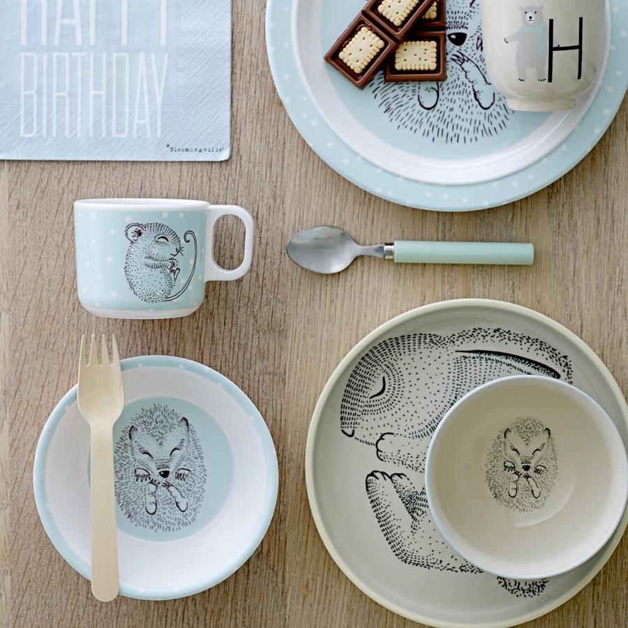 bloomingville speiseteller adelynn rabbit lemon online. Black Bedroom Furniture Sets. Home Design Ideas