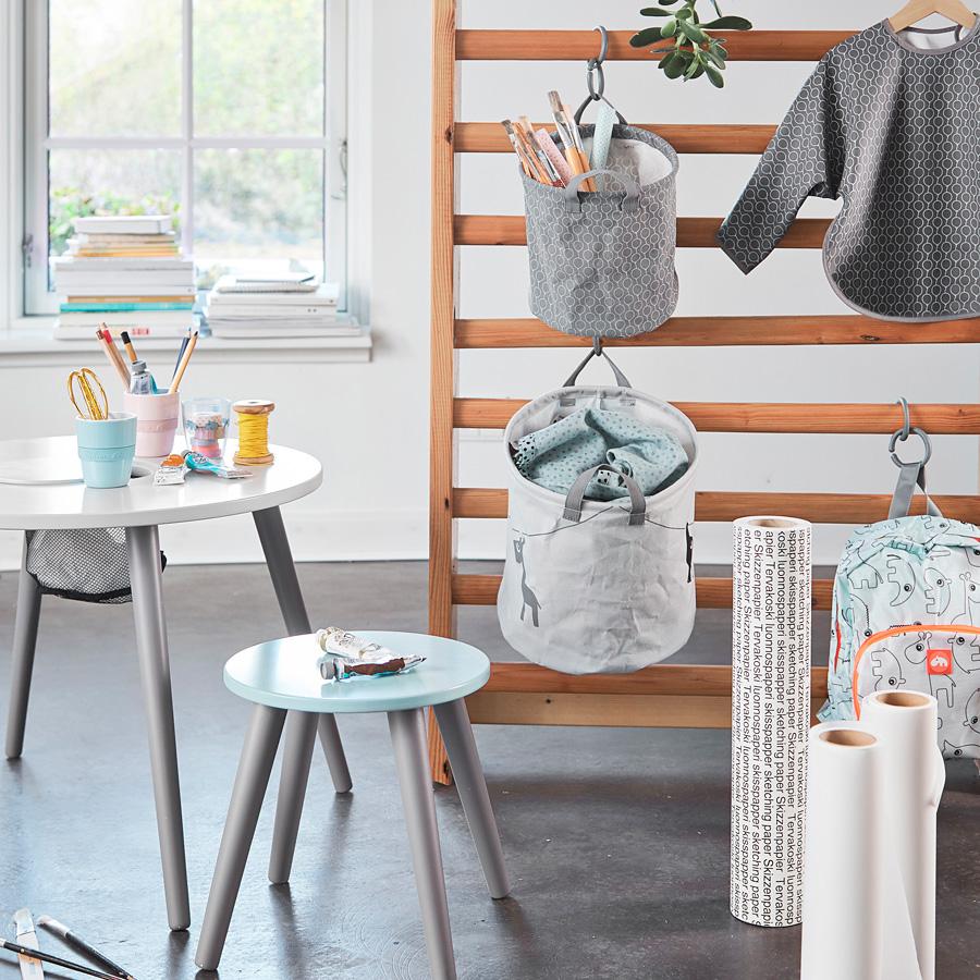 done by deer aufbewahrungskorb grey 3er set online kaufen emil paula kids. Black Bedroom Furniture Sets. Home Design Ideas