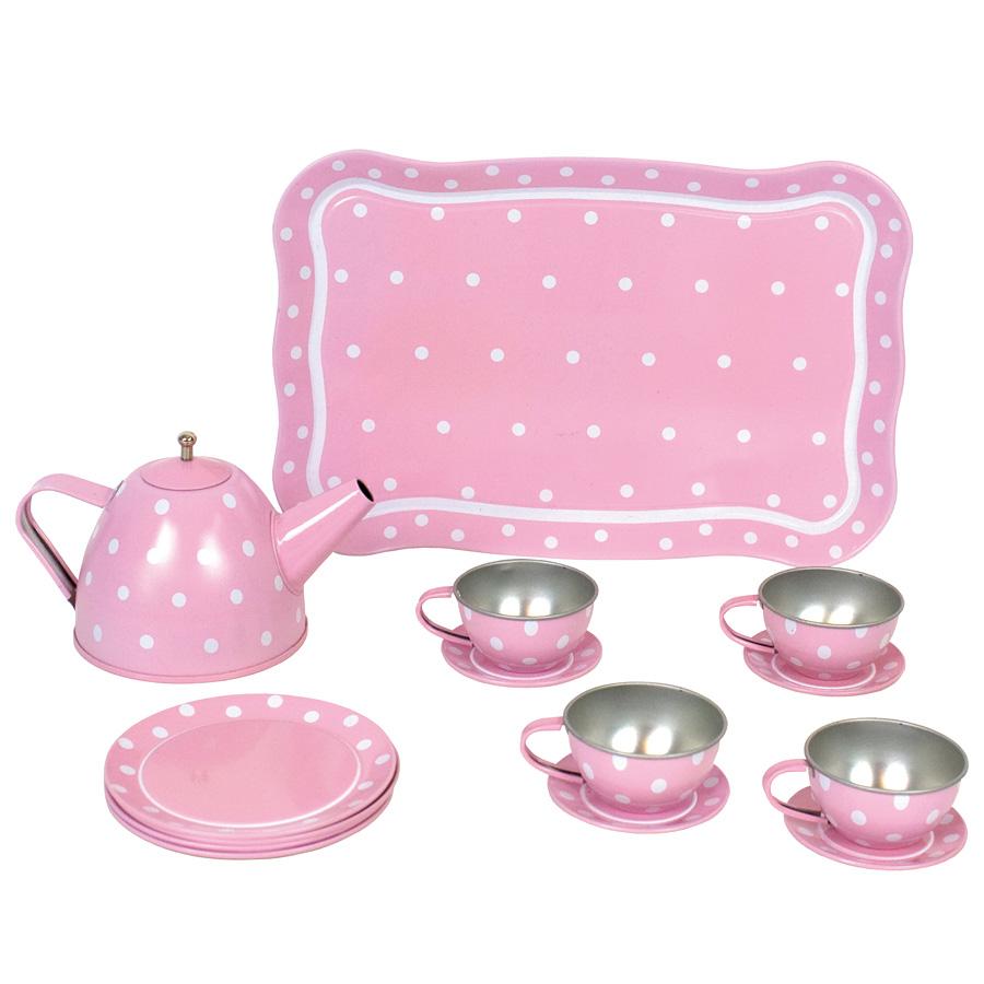 jabadabado tee set aus blech im koffer pink 15 teilig. Black Bedroom Furniture Sets. Home Design Ideas