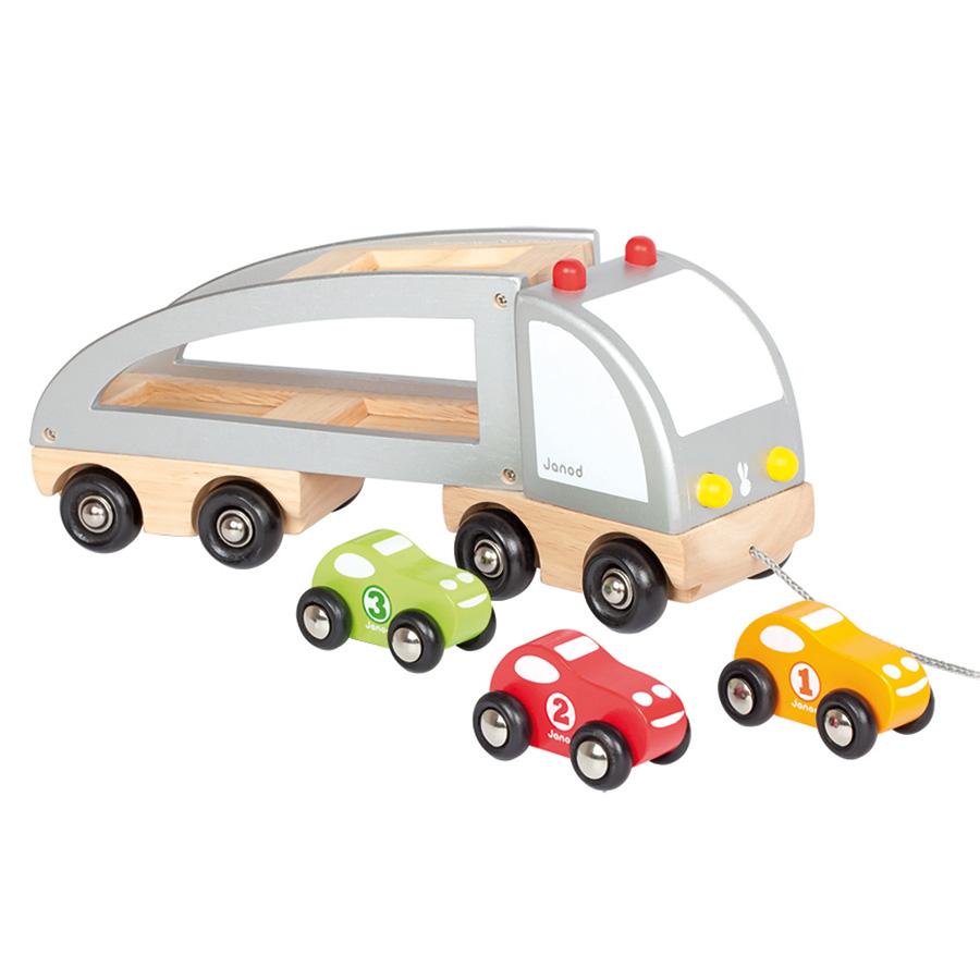 janod auto transporter mit ladung online kaufen emil paula kids. Black Bedroom Furniture Sets. Home Design Ideas