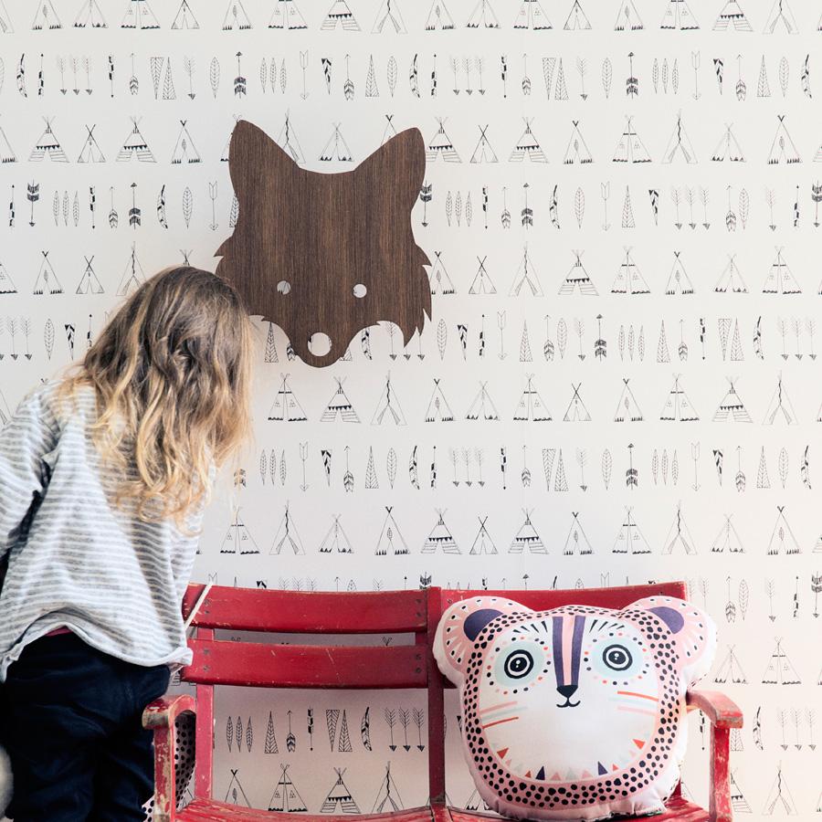 ferm living wandlampe fox smoked oak online kaufen emil. Black Bedroom Furniture Sets. Home Design Ideas