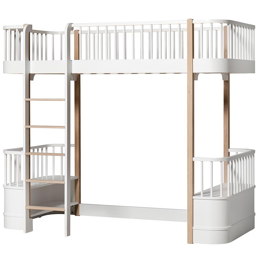 oliver furniture hochbett wood wei eiche leiter vorne online kaufen emil paula kids. Black Bedroom Furniture Sets. Home Design Ideas
