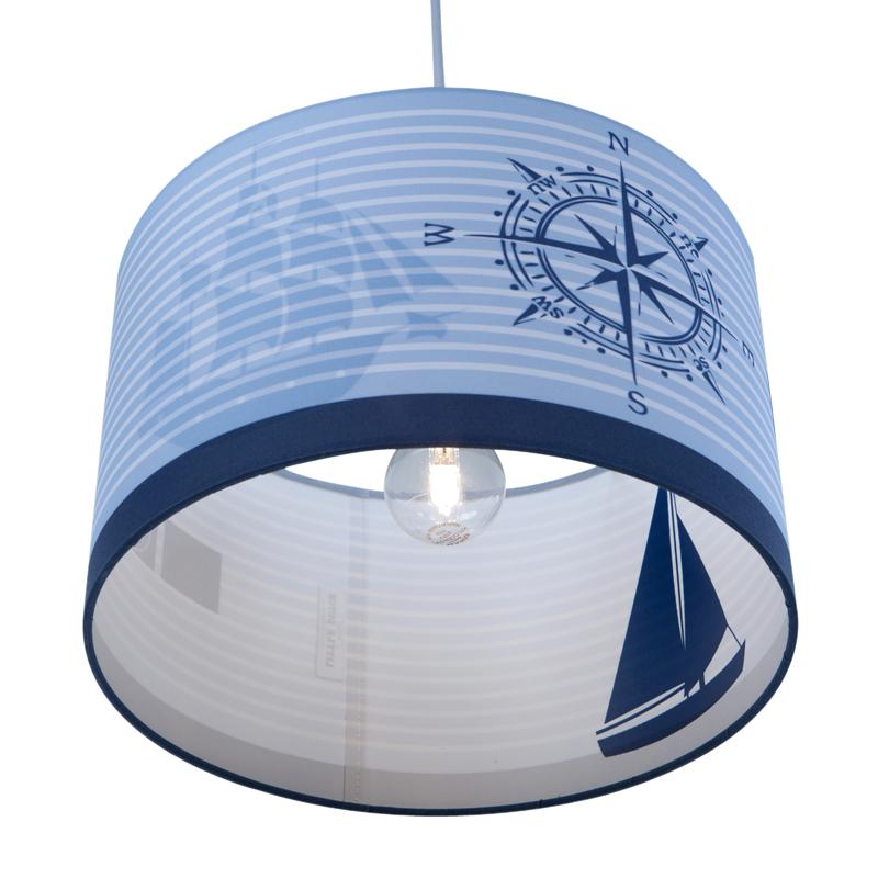Little dutch deckenlampe rund boot blau online kaufen for Deckenlampe rund