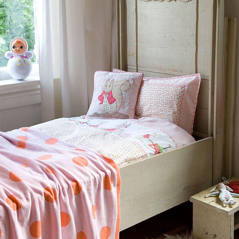 room seven bettw sche rabbit gardening pink online kaufen. Black Bedroom Furniture Sets. Home Design Ideas