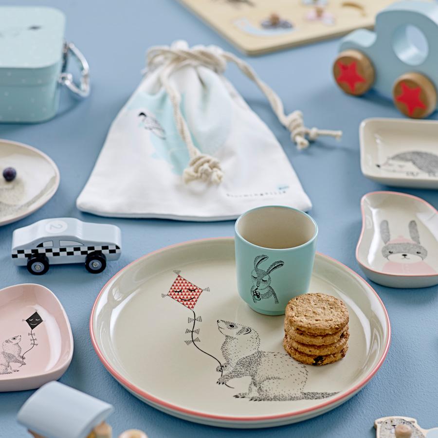 bloomingville teller marius rabbit sky blue white online kaufen emil paula kids. Black Bedroom Furniture Sets. Home Design Ideas