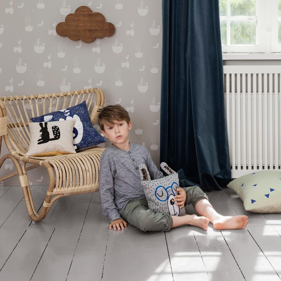 ferm living rabbit kissen grey online kaufen emil. Black Bedroom Furniture Sets. Home Design Ideas
