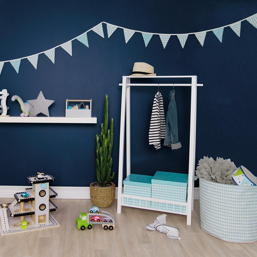 jabadabado aufbewahrungs korb stoff blau online kaufen emil paula kids. Black Bedroom Furniture Sets. Home Design Ideas