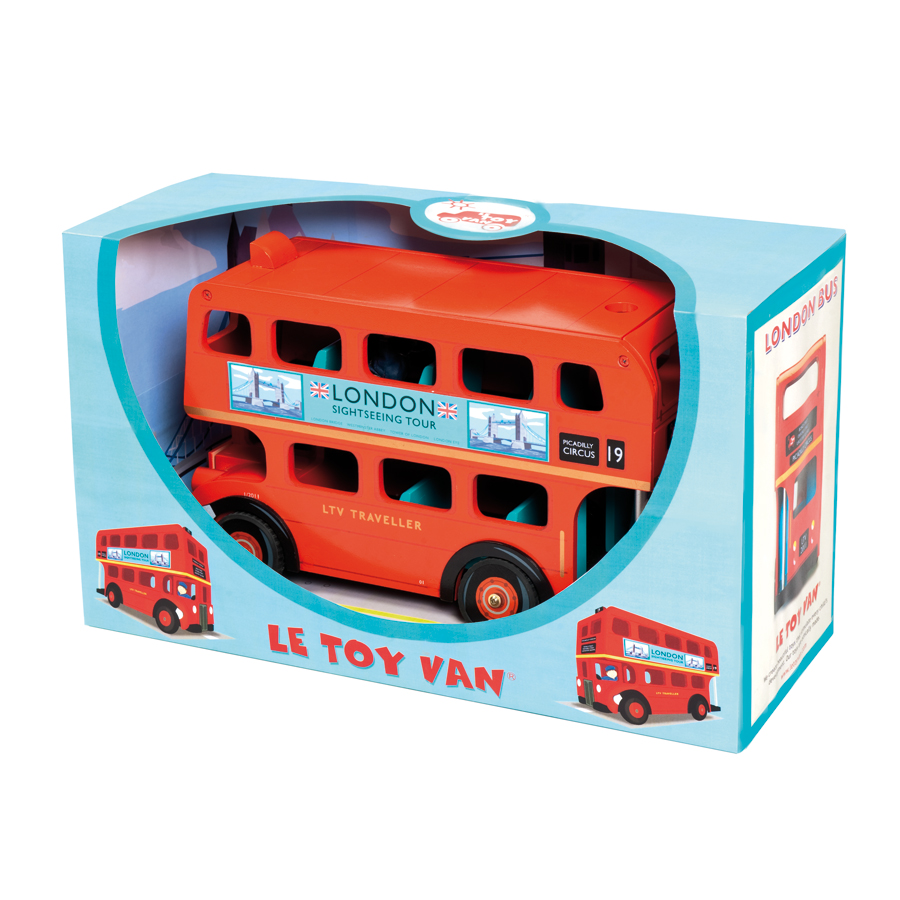 le toy van london bus mit fahrer online kaufen emil. Black Bedroom Furniture Sets. Home Design Ideas