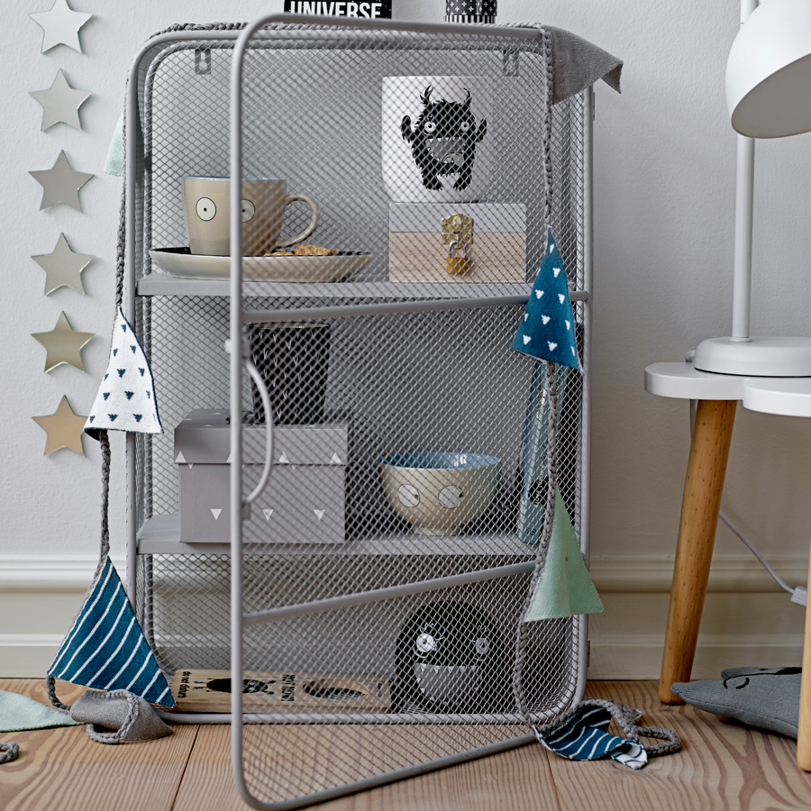 bloomingville schrank regal grey online kaufen emil paula kids. Black Bedroom Furniture Sets. Home Design Ideas