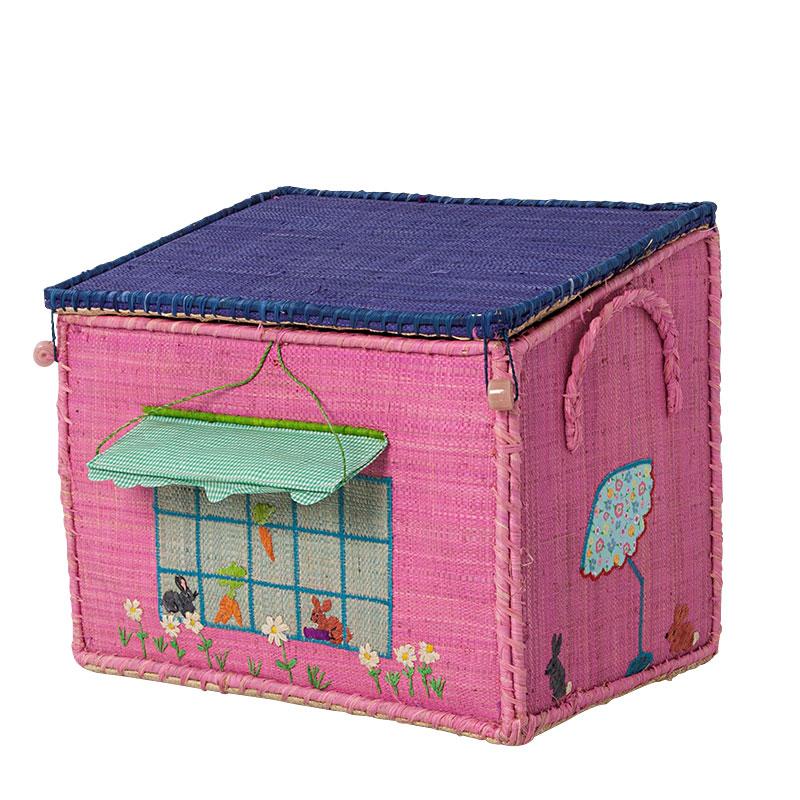rice spielzeugkorb spielhaus m dchen m online kaufen emil paula kids. Black Bedroom Furniture Sets. Home Design Ideas