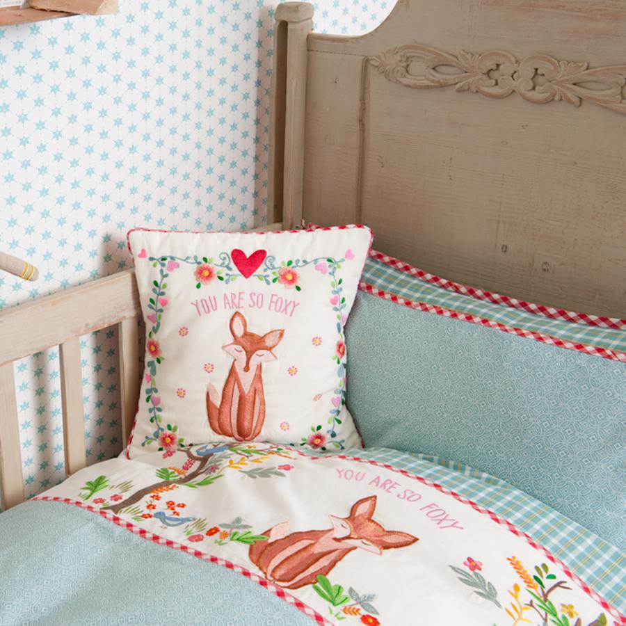 room seven bettw sche fox in wood t rkis bestickt kissenbezug 40 x 60 cm online kaufen emil. Black Bedroom Furniture Sets. Home Design Ideas