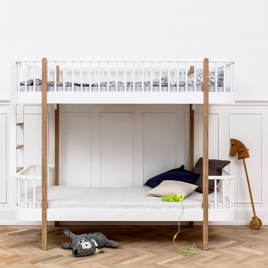 oliver furniture etagenbett wood eiche leiter kopfteil online kaufen emil paula kids. Black Bedroom Furniture Sets. Home Design Ideas