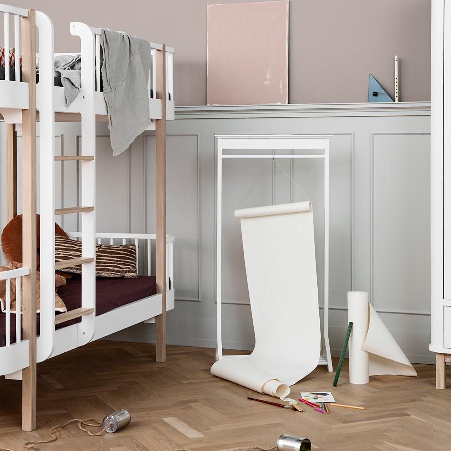 oliver furniture etagenbett wood eiche leiter vorne online kaufen emil paula kids. Black Bedroom Furniture Sets. Home Design Ideas
