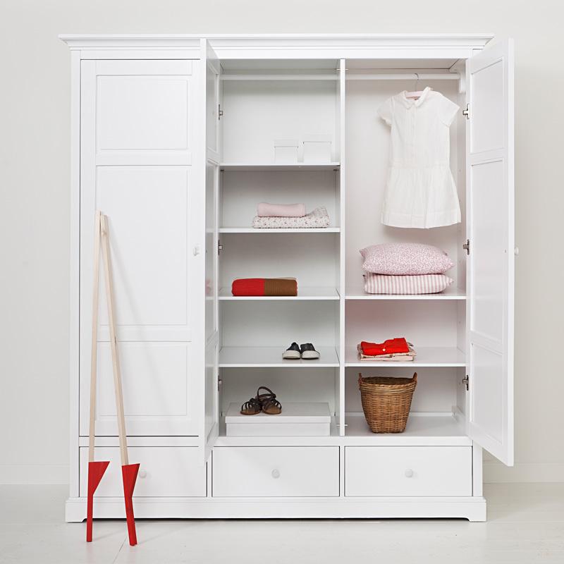 Oliver Furniture 3-türiger Kleiderschrank Weiß Hoch - Sofort ...