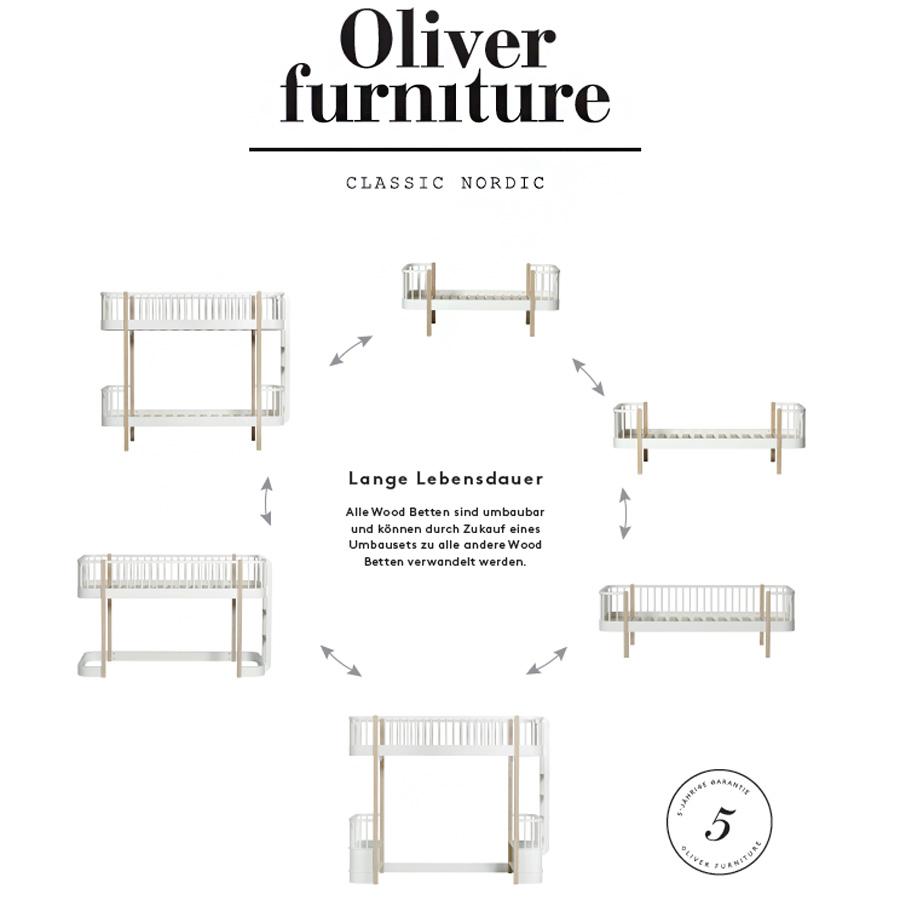 oliver furniture hochbett wood eiche online kaufen emil. Black Bedroom Furniture Sets. Home Design Ideas