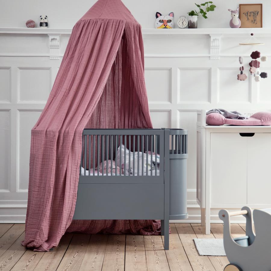 Sebra baby kinderbett dunkelgrau online kaufen emil for Kinderbett baby